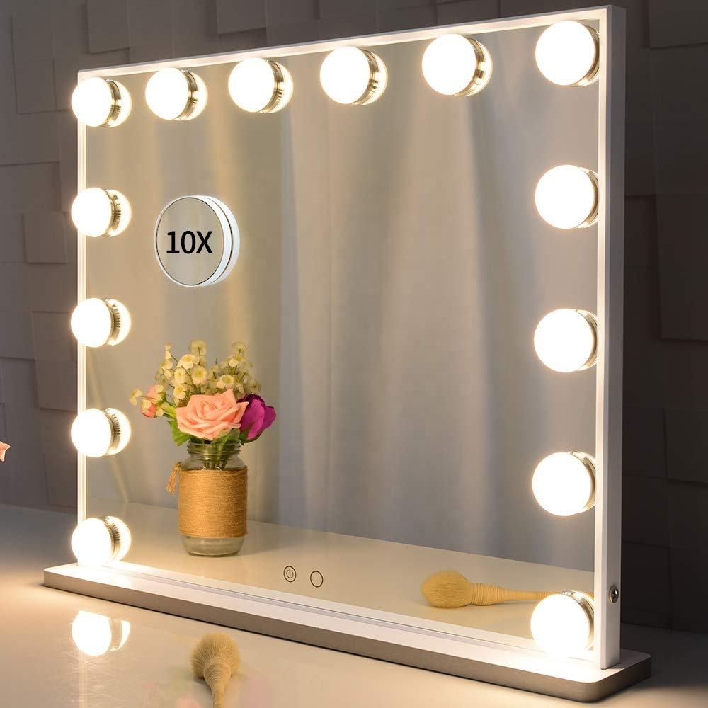 Hollywood Vanity Makeup Mirror Standing Salon Mirror with led Lights