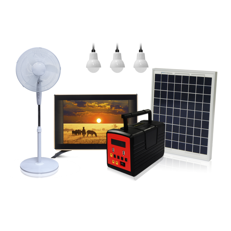Wholesale Most Popular Portable Solar Home System With AM/FM Radio 12V DC Solar Fan and DC TV For No-Electricity Area