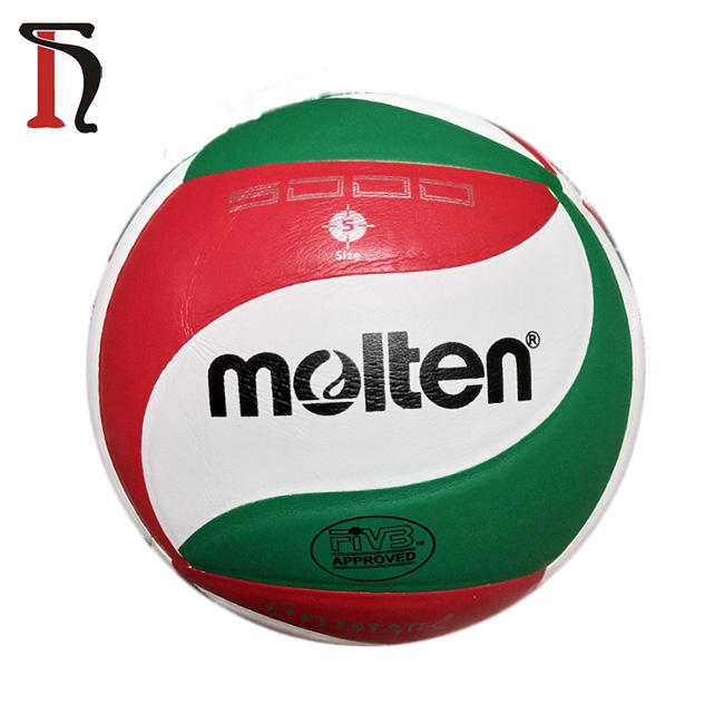 Official standard size 5 high quality pu leather match indoor Molten 5000 volleyball ball customize