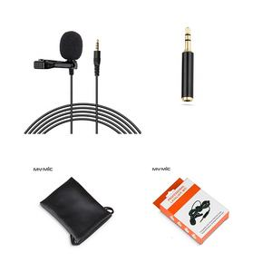 MY MIC LJ03A professional condenser lapel collar mic clip lavalier microphone for cell phone laptop PC camera recording