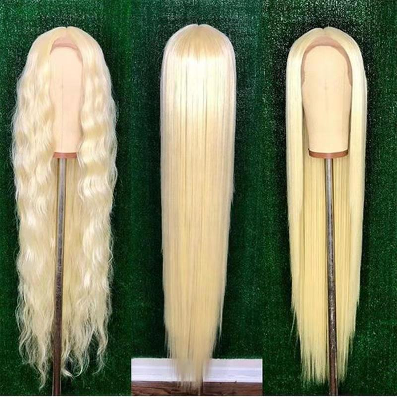 8-40inch 613 Blonde Straight Virgin Brazilian Human Hair Lace Front Wig