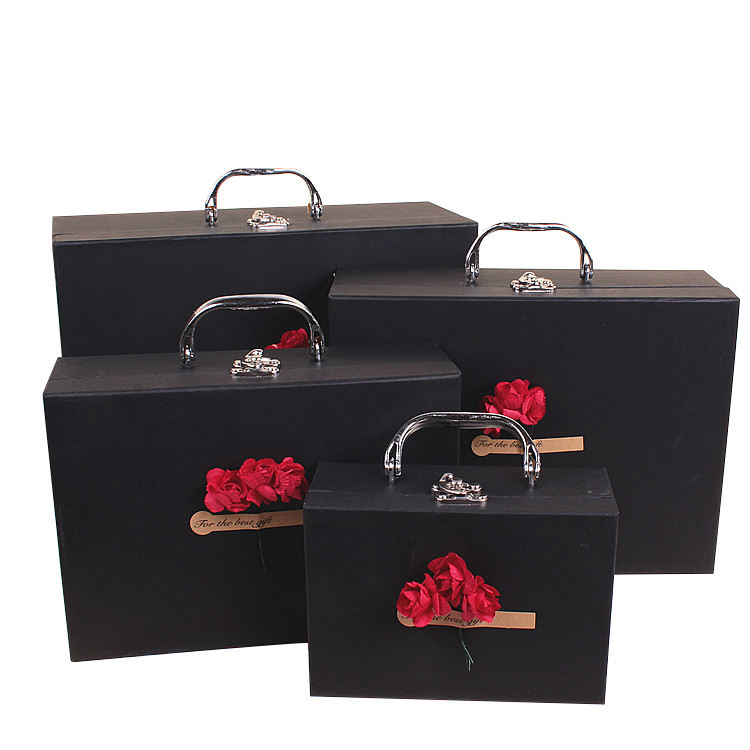 Suitcase Shaped jewelry rectangular package Gift Cardboard Boxes
