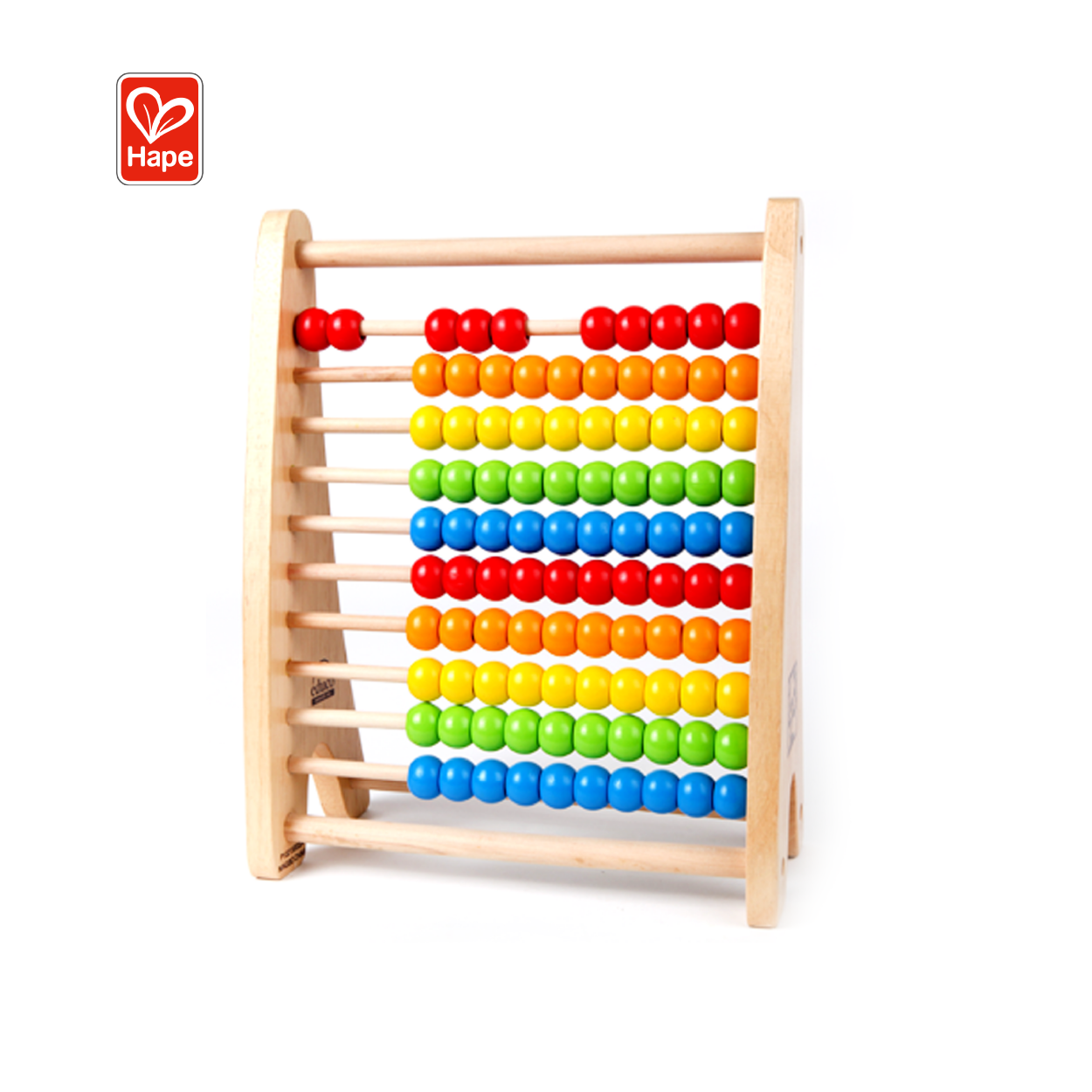 Wooden Rainbow Bead Abacus Educational Toy Intelligent Abacus For Kids