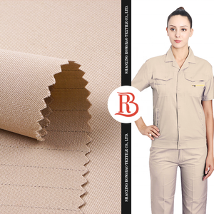 High quality ready made 60% cotton 10% polyester twill anti static gabardine fabric for uniform