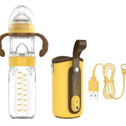 Built-in sensor detects temperature in real time glass pacifiers baby feeding milk bottle