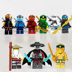 Ninjago wu master ninja Cole Zane Jay Nya Kai with weapon legoe Compatible mini figures Lloyd's Titan Mech building brick Toy