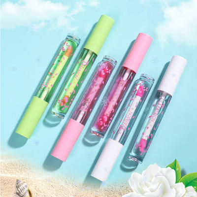 TEAYASON Sakura Aloe Peach Non-marking Color-changing Lip oil Non-stick Cup Lipstick Moisturizing Toot Glass Lip