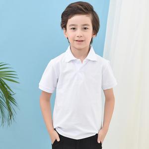 kid Lapel T-shirt short sleeve blank polo shirt kindergarten activity customized logo