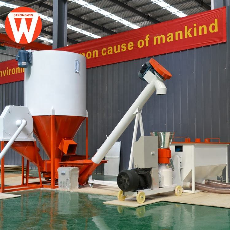 Strongwin customize feed machinery 300kg/h turn-key poultry chicken feed production line