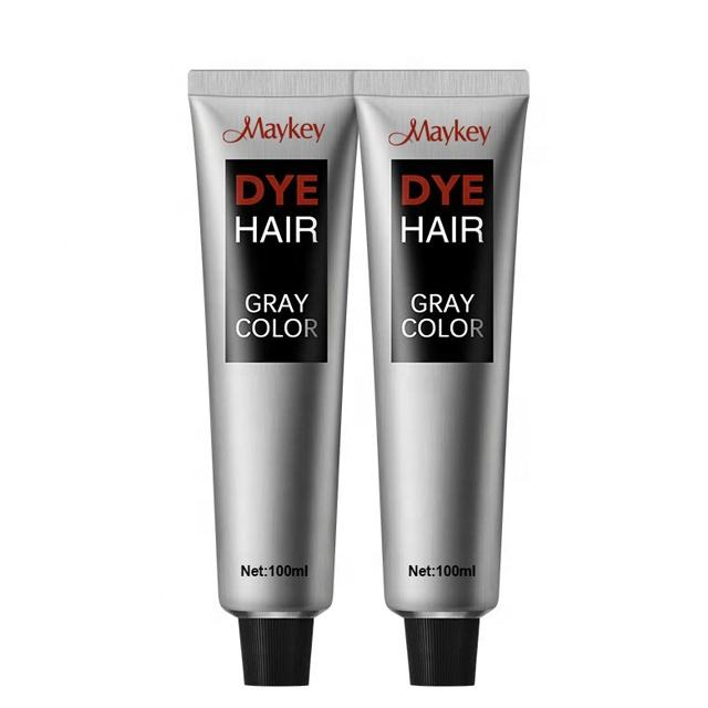 New design products hair dye cream kit, natural hairstyle color silver gray professional hair dye color cream for permanent
