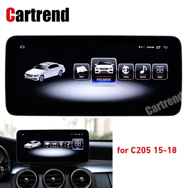 C205 Coupe coche estéreo reproductor de <span class=keywords><strong>cd</strong></span> de la esquina ronda pantalla de navegación pantalla actualización sistema de mando