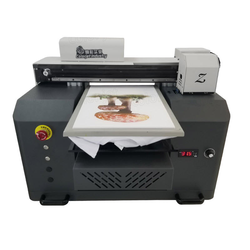 CJ A3 dtg inkjet printer for canvas garment textile t shirt clothes printing machine