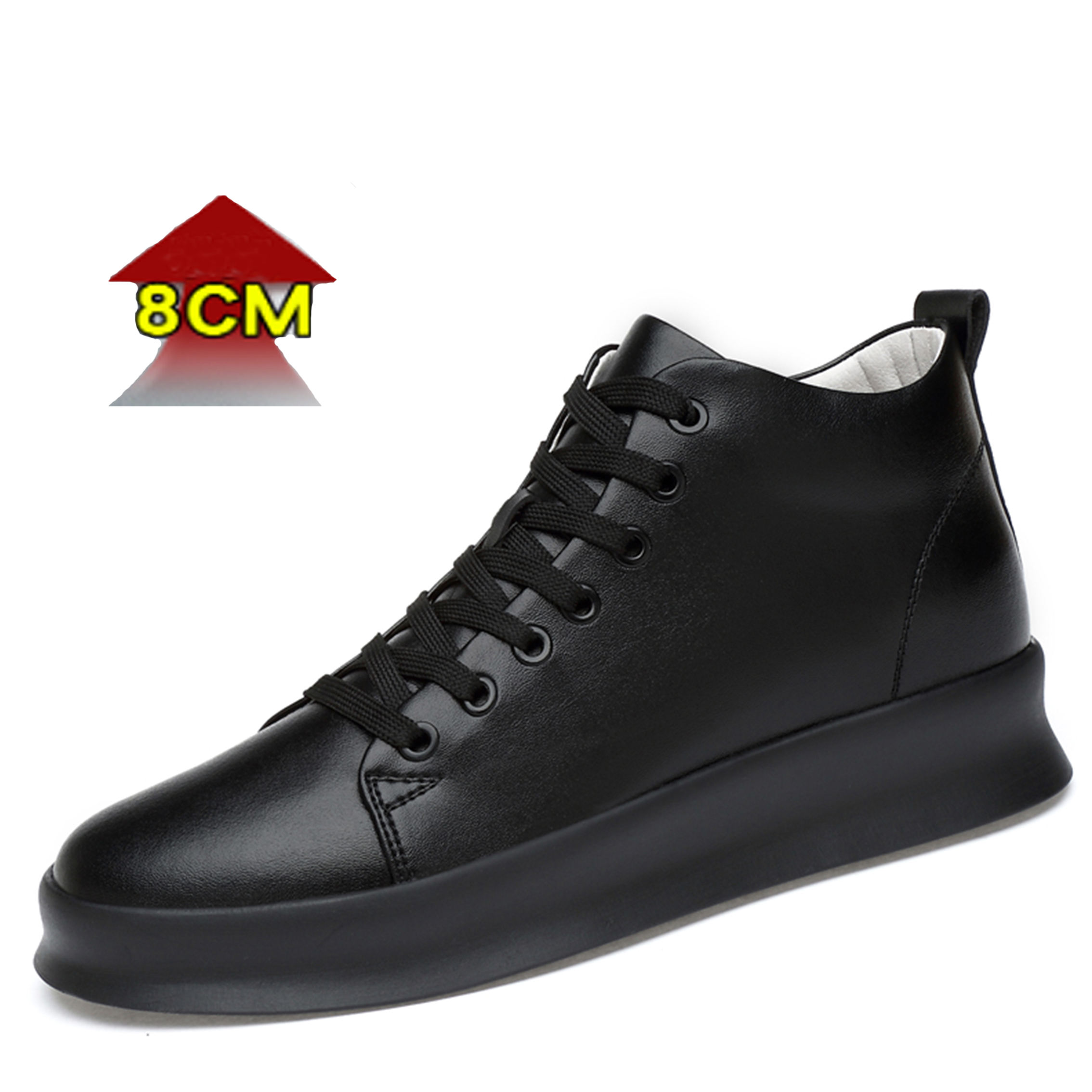 High Quality Invisible Men Women Elevator Genuine Leather Height Increasing Shoes