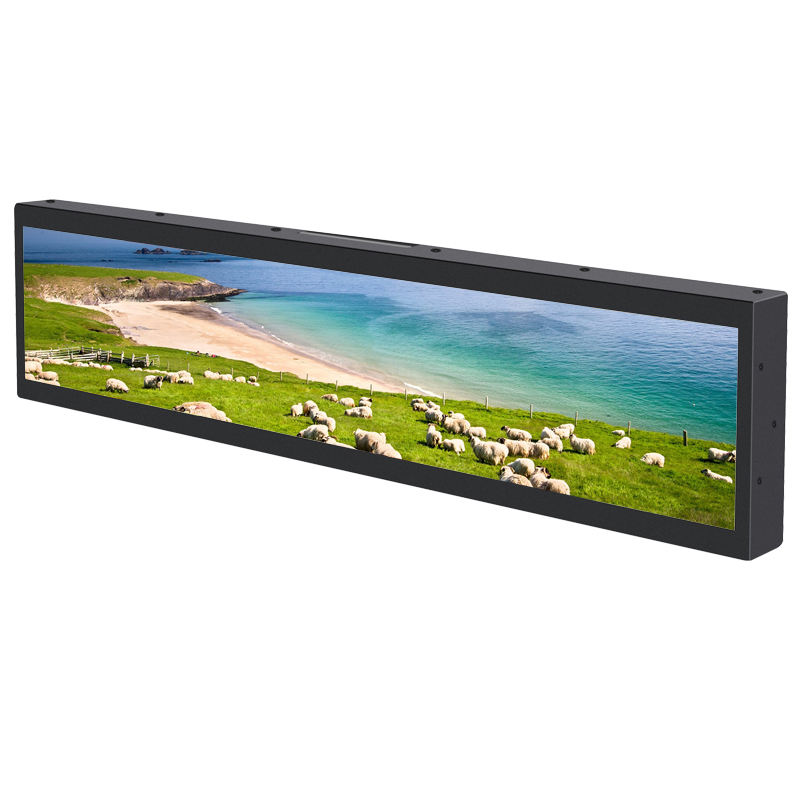 "38"" Widescreen Led Video Vision Monitor display High Quality Stretched Lcd Screen Touch Tags Retail Shelf Digital Price Tag"