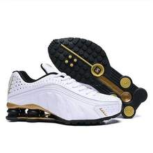 Gold Rainbow Shox Men Shoes Designer Chaussures R4 Running Shoes Zapatillas Hombre Man Sport Trainers
