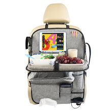 Free samples Protector Storage Portable Polyester Car Organizer Backseat Kids car seat organizer with tray