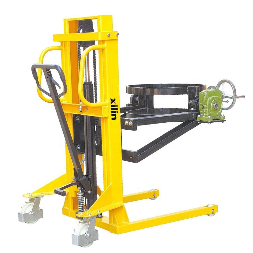 Xilin Oil lift truck stacker 350kg capacity manual hydraulic drum lifter