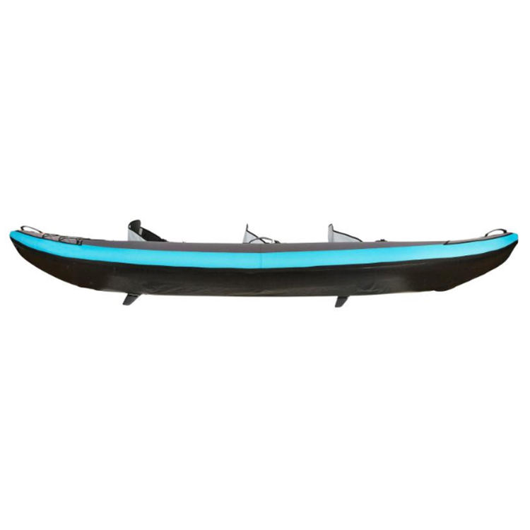 Blue PVC Inflatable Kayak 3 Person Fishing Inflatable Kayak Boat