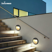 IP44 3W Round Black Aluminum Recessed Mounted Indoor Exterior Waterproof Step Corner LED Wall Light For Stair