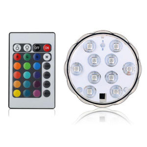 Hot sale 3AAA Battery Operated Remote Control 16Colors Submersible LED Light for Wedding decoration