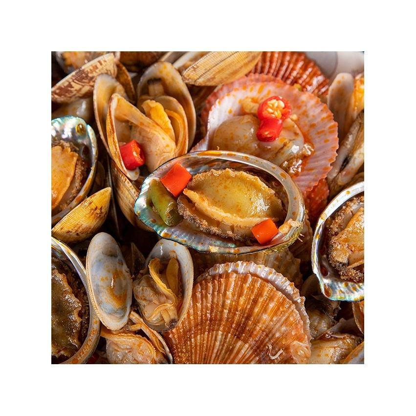 Fresh Tender Abalone Scallop Whelk Clam Mussel Frozen Mixed Shellfish