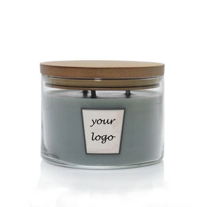 private label candle wood wick 3 wooden wick scented candles