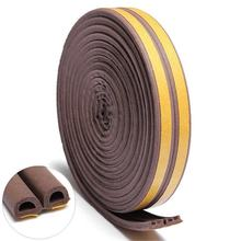 D shaped Weather Stripping for Doors and Windows Self-adhesive Foam Weather Strip Door Seal