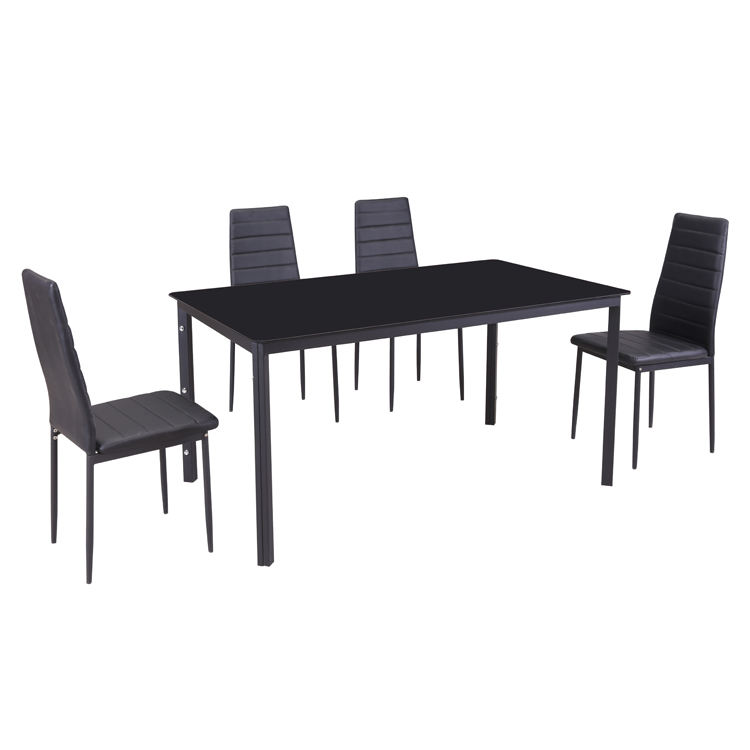 Free Sample Removable Turkish Hidden Size Black Marble Latest Designs Dining Table For 12 4 People