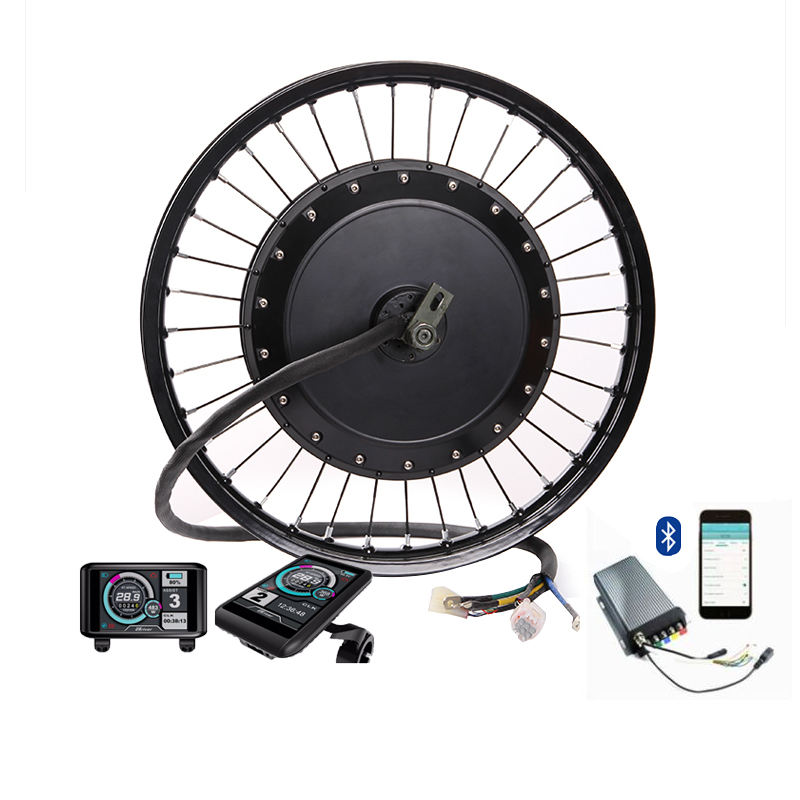Instantaneous power 12kw -15kw 8000w electric bike hub motor kit ebike conversion kit 8000w electric bicycle kit