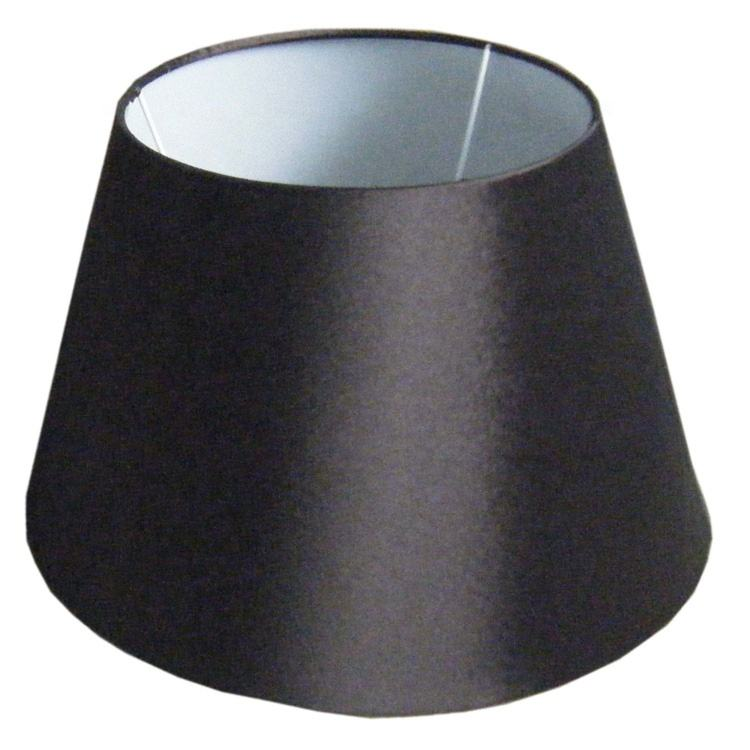Oval Black Polyester Varnished Fabric Lampshade