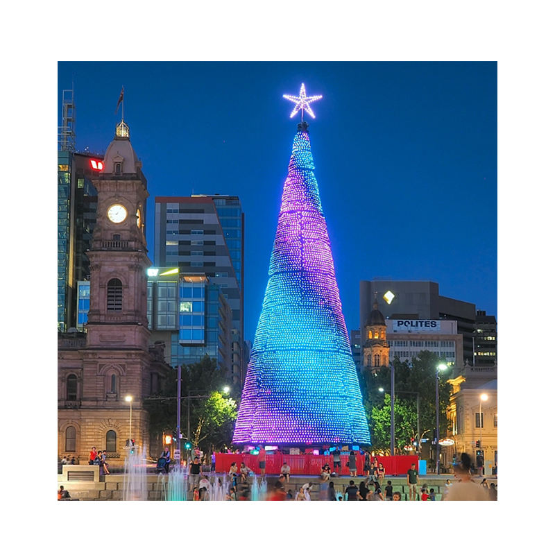 8m 10m 15m 20m new style giant oitdoor artificial christmas tree large with led light color change city plaza decor