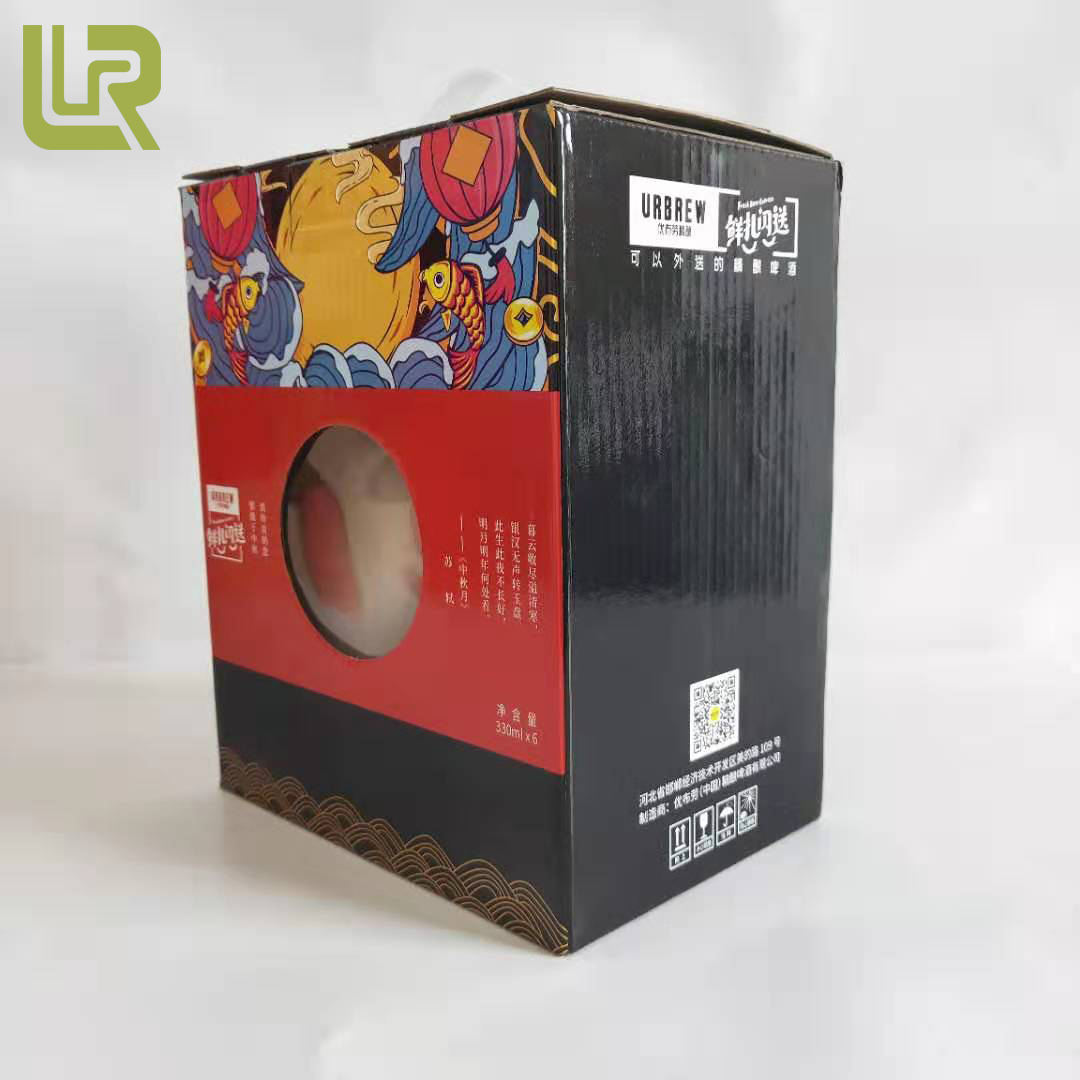 Factory Price 3 Ply Transparent Window Paper Cardboard Suitcase Boxes For Jam Packaging