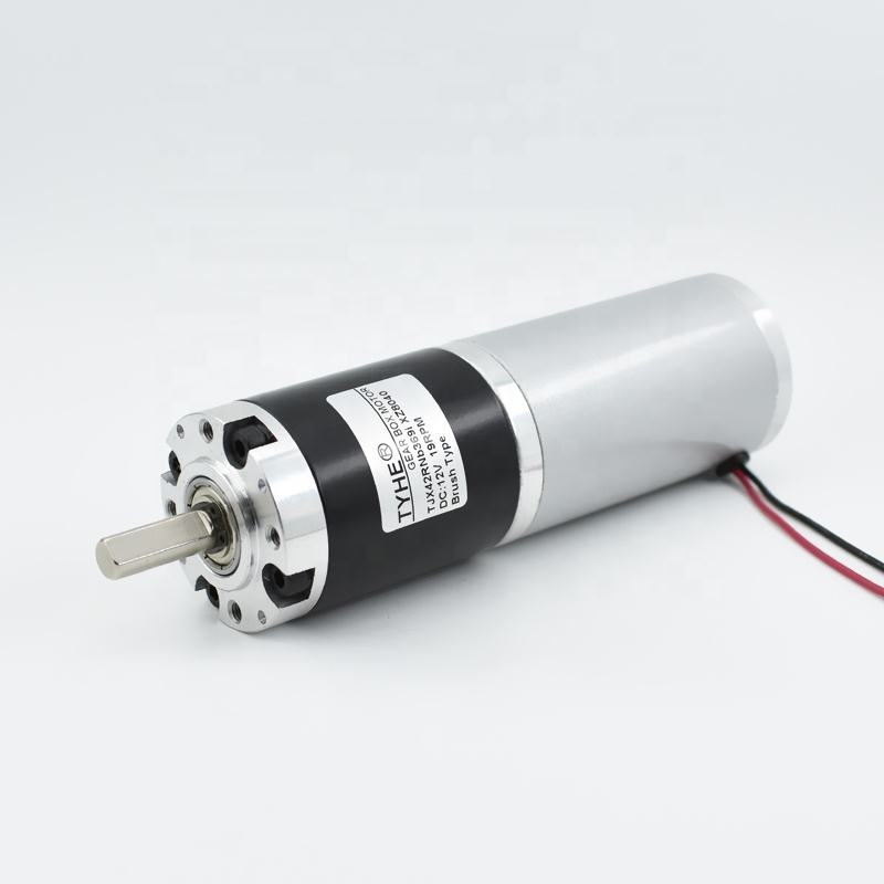 Factory goods 42mm size 12v 8nm high torque waterproof PMDC dc planet gear motor for grill