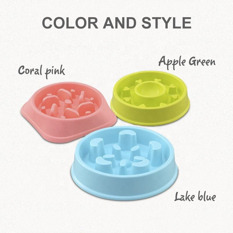 Non-Automatic [ Bowl ] Wholesale Manufacturer Slow Eating Feeder Plastic Travel Outdoor Indoor Dog Pet Bowl