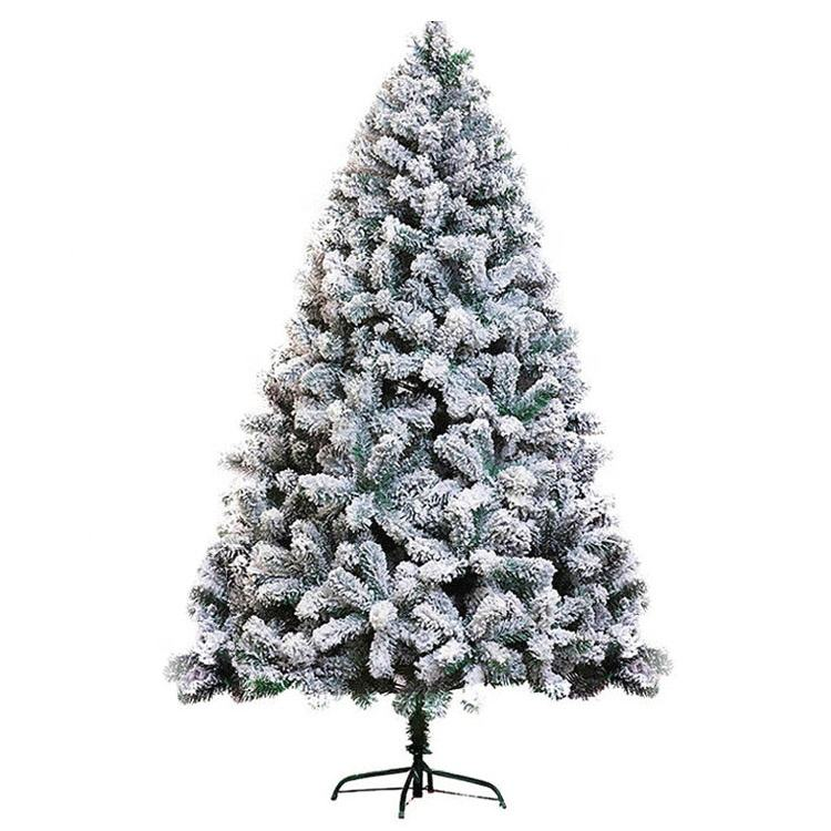 Home Christmas Decoration High Quality 210 cm Green Leaves with Snow Artificial PVC Christmas Tree with CE ROHS
