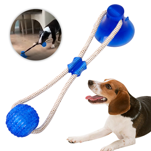 Durable eco-friendly pet cat dog strong suction cup ball toys interactive pet dog chew toy