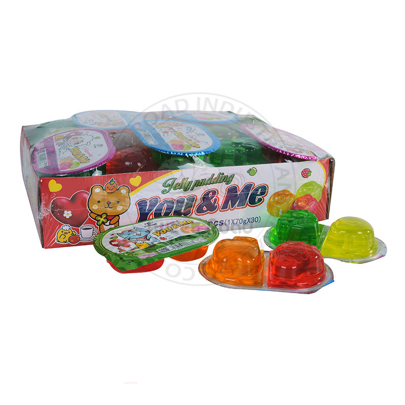 Jelly Pudding Double Color Roses Shaped Fruit Flavor Jelly You and me Jelly Candy