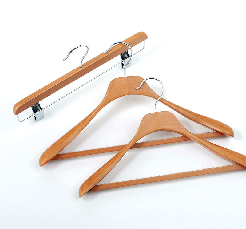 New 2020 Trending Product Matt Cherry Color Custom Brand Garment Luxury Wooden Clothes Hangers for Cloth