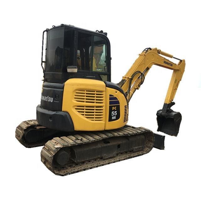 Less cost used mini 5.5 ton komatsu PC55MR/excavator hydraulic crawler japan/ used mini excavator pc55
