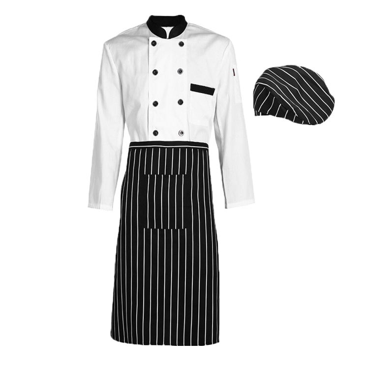 Laagste prijs lange mouw keuken fornuis koken uniform chef <span class=keywords><strong>jas</strong></span> outfit/wit chef jacket