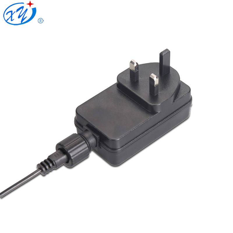Pasokan Pabrik 12 V DC 24 W IP44 Tahan Air Luar Ruangan Power Supply UK Plug AC DC Adapter