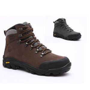 Dark brown climbing mountain boots for men/climbing boots waterproof nubuck leather