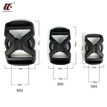 Professional style metal strap bag clip  colored plastic side release buckles for dog collars