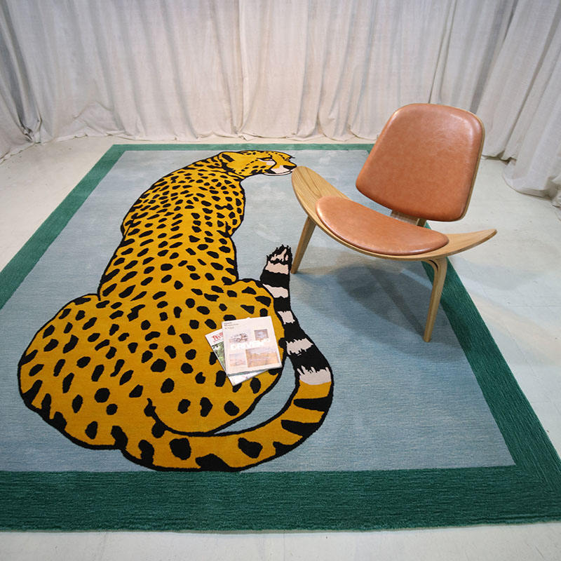 Wholesale Custom Rugs Carpets Handmade Carpet Rugs Tiger Pattern Wool Material