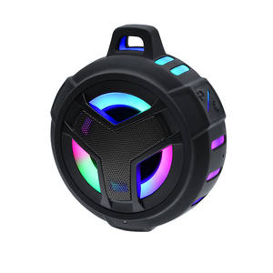 4 inch cycling led light outdoor speakers ipx7 waterproof wireless portable mini blue tooth speaker