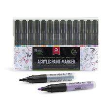 China factory Wholesale MultiColor Fade Resistant Valve structure Acrylic Paint Marker pen set