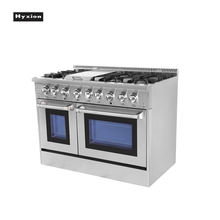 Hyxion 48 Inch Gas Range Two Smokeless Conversion Oven With 6 Burner