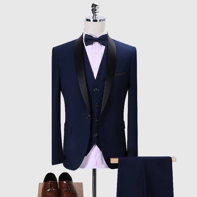 High quality men 3 pieces business suits blazer waistcoat trousers slim fit suits