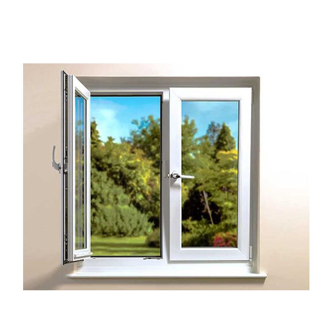 Topwindow Aluminum 4 Panels Casement Windows Aluminium Frame Casement Window With Tinted Glass