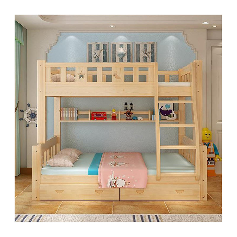 Twin Modern solid wood double bunk beds kids children bunk bed for sale